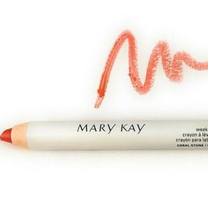 Lot of 2 Mary Kay Coral Stone Weekender Lip Pencil